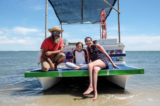 The Shoaff family spends their weekends riding around Rehoboth Bay, selling ice cream on their decked-out pontoon boat.