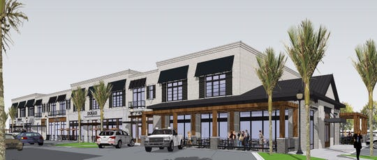 Rise and Grind Hospitality Group, owner of the Canopy Roads Cafe brand and other local businesses, has plans to open another CRC location in Neptune. The restaurant would located on the right side of the building in this rendering.