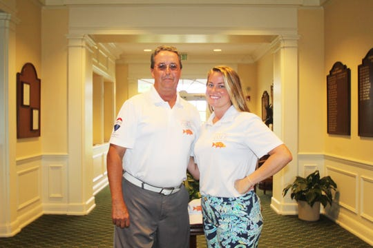 Live Like Cole Foundation's Director of Golf Ray Hengerer, left, and Executive Director Margaret Mattingly.