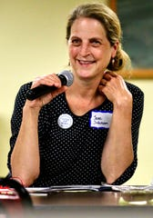 Jane Janke Johnson, co-owner of Janke Bookstore in Wausau, shares an idea for a potential interactive exhibit for a new Wisconsin history museum that the Wisconsin Historical Society is planning to build on the Capitol Square in Madison. Johnson is secretary of the Marathon County Historical Society, which hosted the Wisconsin Historical Society's new museum listening session last Wednesday at the Woodson Center in Wausau.