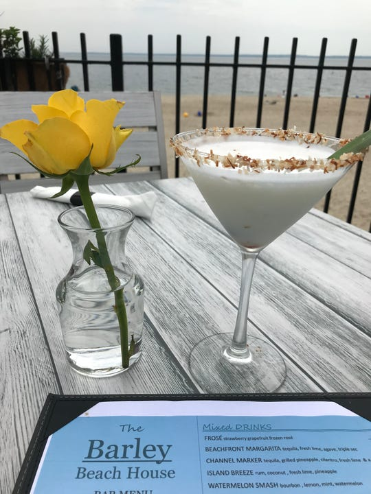 Enjoy a taste of the tropics with the Island Breeze at The Barley Beach House in Rye, made with rum, coconut, fresh lime and pineapple.