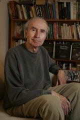 Writer Michael Rumaker photographed in his Nyack home, Dec. 28, 2006.