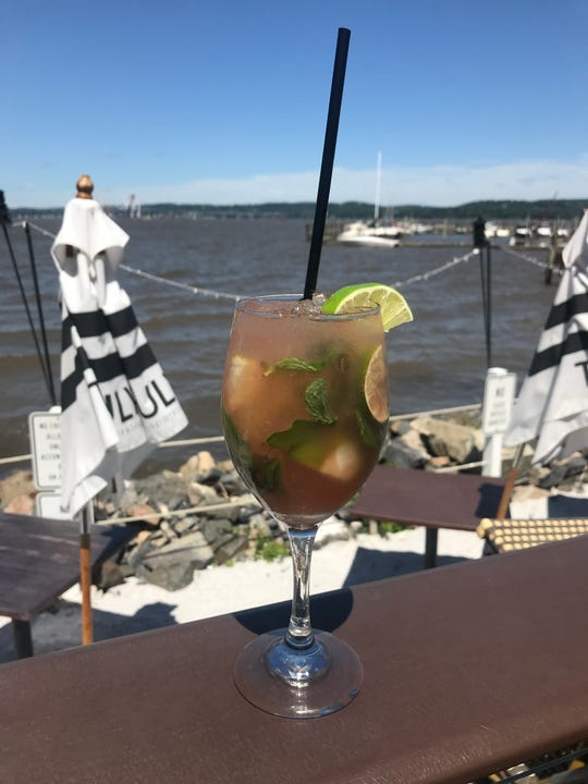 A drink and a view: Watermelon sangria at Pier 701 Restaurant & Bar in Piermont.