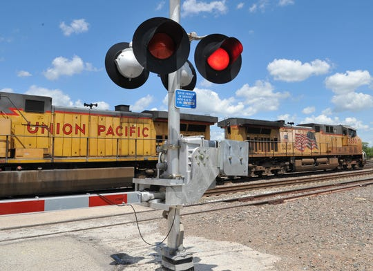 City officials will look into an ordinance that would make it illegal for a pedestrian to walk in front of, under, or between rail cars that are moving or stationary crossing such as the 7th Street railway crossing near downtown Wichita Falls.