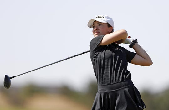 Alexis Escobedo of Amarillo shot a 1-over 72, taking the lead after the first round of the Texas-Oklahoma Junior Golf Tournament.
