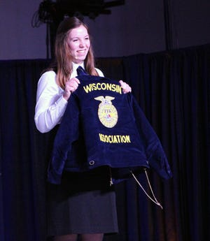 Former Wisconsin FFA President Amelia Hayden is one of four FFA members vying for the American Star in Agriscience during the National FFA Convention & Expo this week in Indianapolis, Ind.