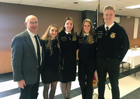 As part of her travels, Amelia worked with many FFA members - including these students from the Dodgeville FFA.