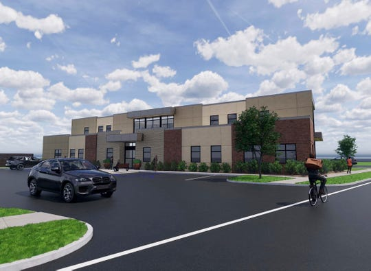 An artist's rendering of the new Allwell Behavioral Health Services facility that will be located at Seventh and Main streets in Coshocton. Construction is expected to begin this month.
