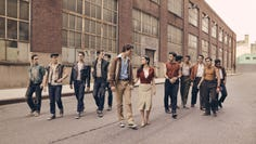 """Ansel Elgort and Rachel Zegler, middle, play Tony and Maria in Ssteven Spielberg's """"West Side Story"""" adaptation."""