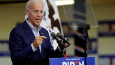 Former Vice President Joe Biden campaigns for president in Davenport, Iowa, on June 11, 2019.
