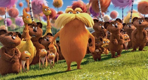 "A scene from the movie ""The Lorax""."