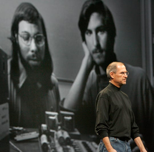 The late Apple chief executive Steve Jobs in January, 2007,  in San Francisco.