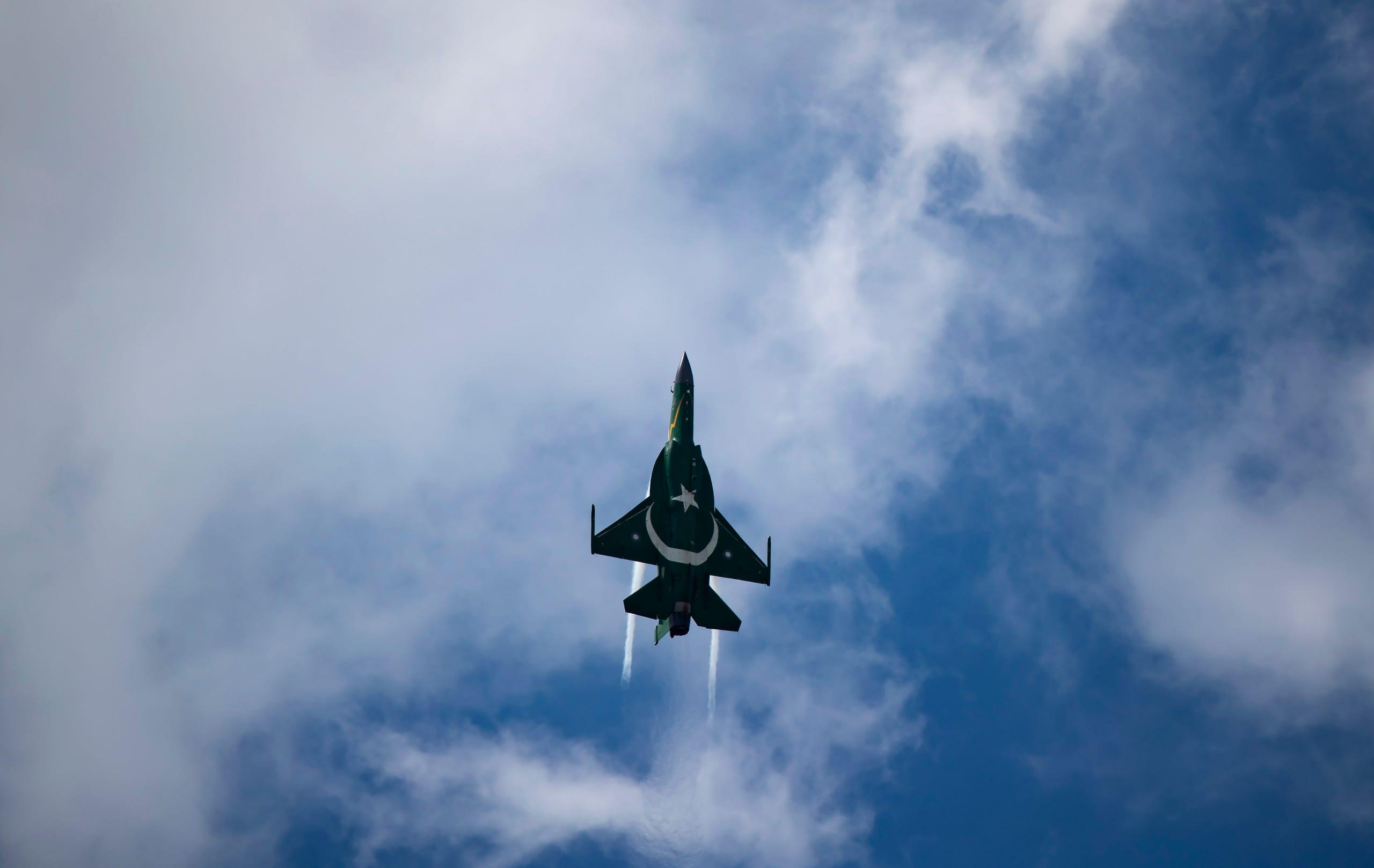 A PAC Kamra JF-17 Thunder fighter jet, June 17, 2019.