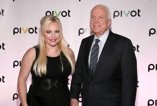 Meghan McCain and the late Sen. John McCain