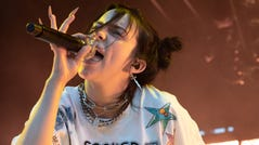 REDMOND, WASHINGTON - JUNE 02: Singer/songwriter Billie Eilish performs on stage at Marymoor Park on June 02, 2019 in Redmond, Washington. (Photo by Jim Bennett/Getty Images) ORG XMIT: 775349903 ORIG FILE ID: 1153371596