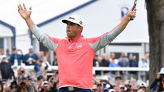 Gary Woodland celebrates after winning the U.S. Open.