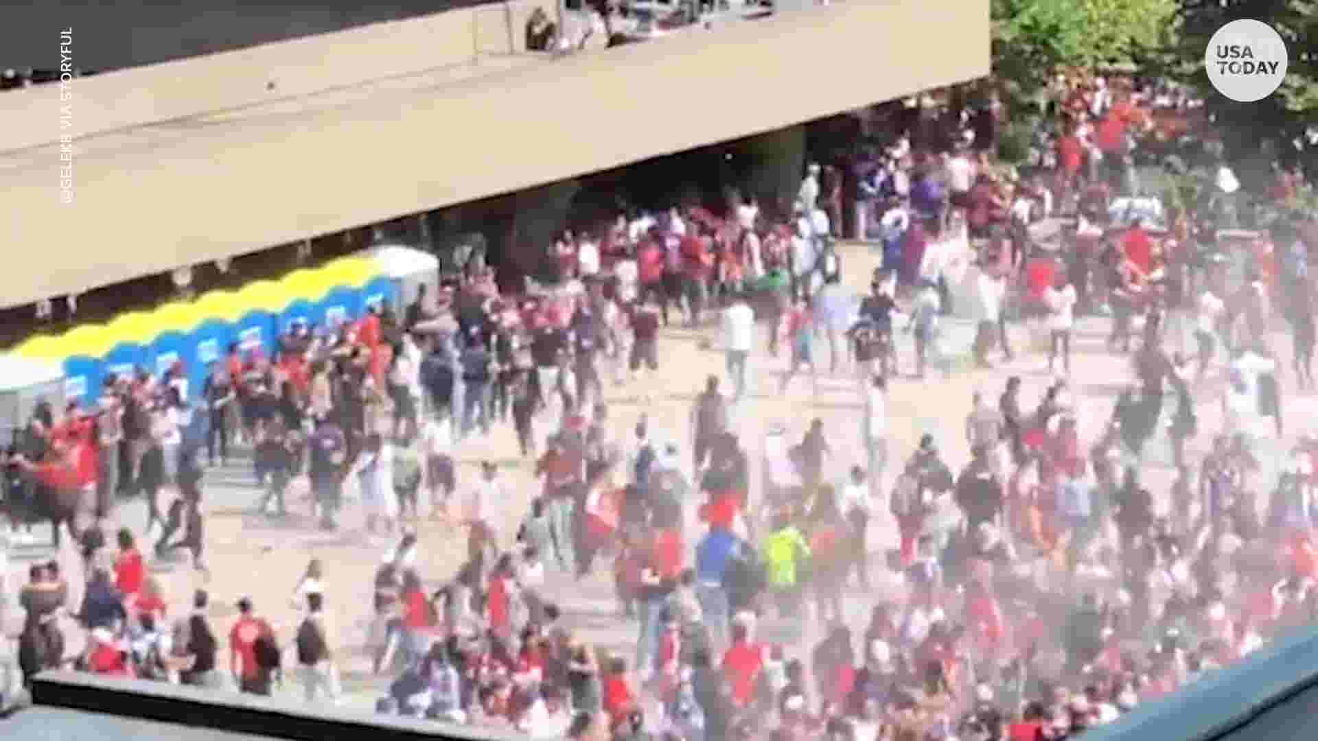 Video shows thousands running after shots fired during Toronto Raptors'  parade celebration