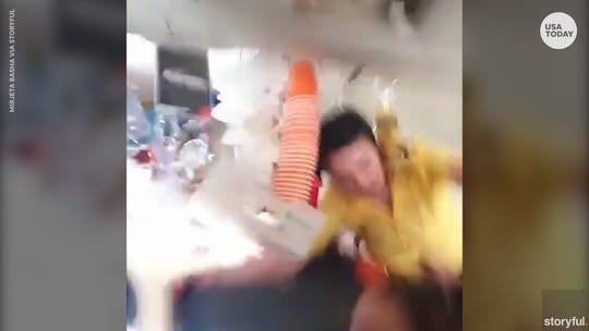 Terrifying video captures travelers praying, screaming through extreme turbulence