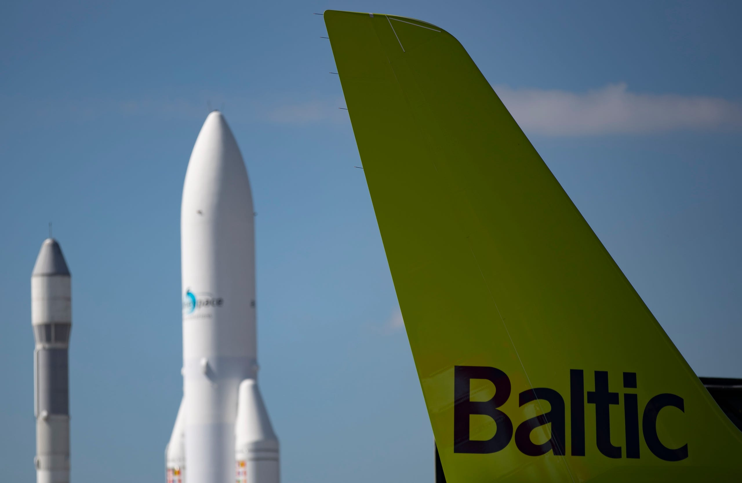 The logo of Baltic on an airplane tail, June 17, 2019.
