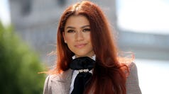 Actor Zendaya poses during a photocall for their latest film 'Spider-Man: Far From Home' at the Tower of London, backdropped by London's Tower Bridge, in London on June 17, 2019. (Photo by ISABEL INFANTES / AFP)ISABEL INFANTES/AFP/Getty Images ORIG FILE ID: AFP_1HL11K