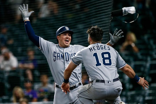 Padres outfielder Hunter Renfroe is on pace to top 50 home runs.