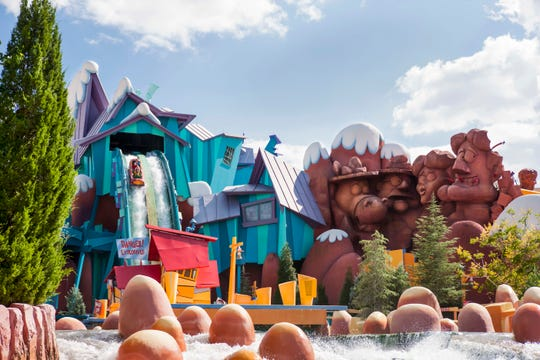 Universal Orlando's Islands of Adventure features the unabashedly cartoonish Dudley Do-Right's Ripsaw Falls.