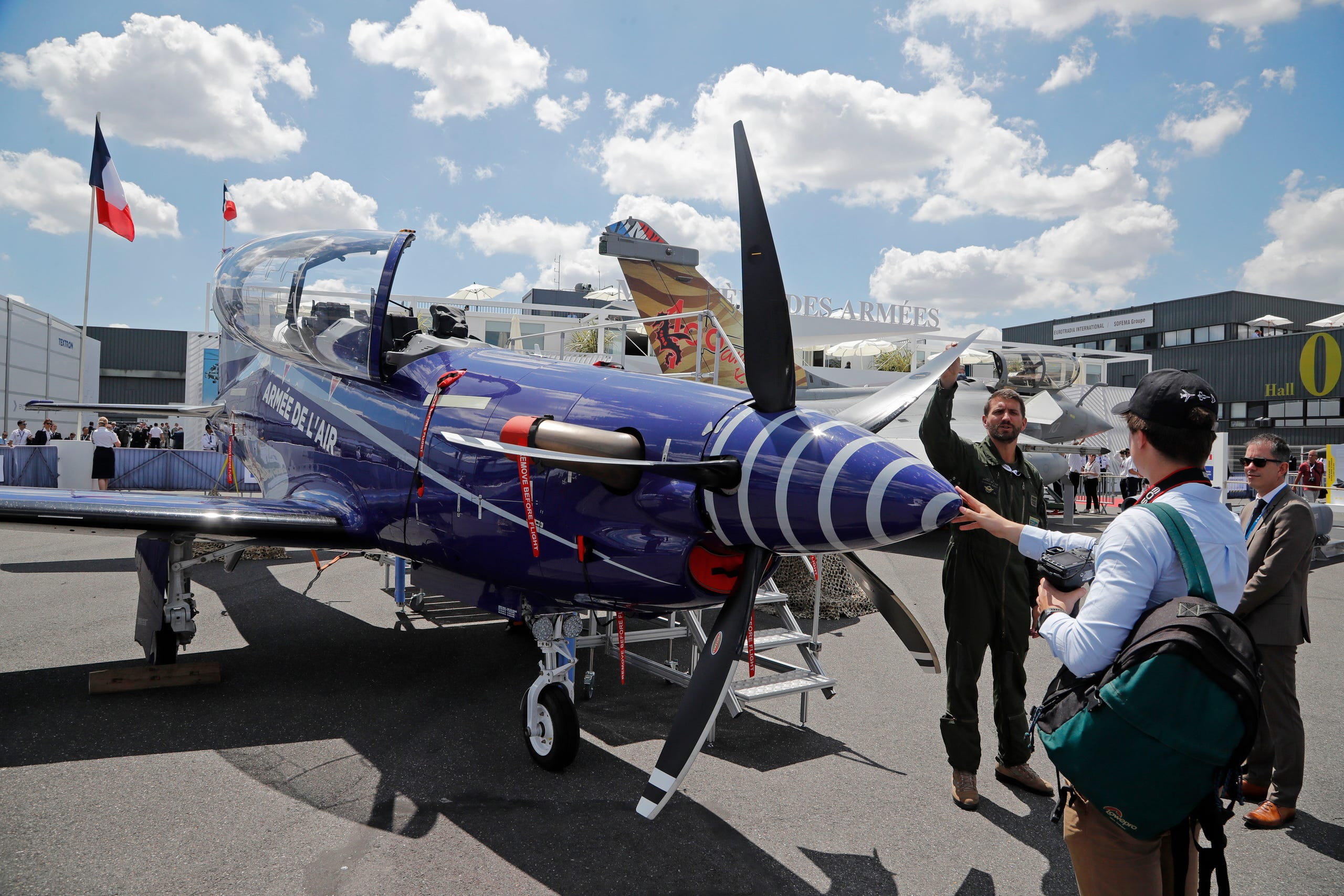 A Pilatus PC-21, a new training aircraft for fighter crews of the French Army,June 17, 2019.