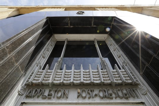 The facade of The Post-Crescent building in Appleton reflects the Art Deco style.