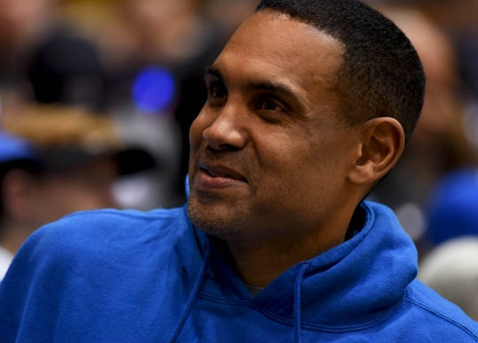 Dec 30, 2017; Durham, NC, USA; Duke Blue Devils alumnia Grant Hill prior to a game against the Florida State Seminoles at Cameron Indoor Stadium. Mandatory Credit: Rob Kinnan-USA TODAY Sports