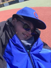 J.T. Faber of Battle Creek following a 2018 West Michigan Miracle League game in Rockford.