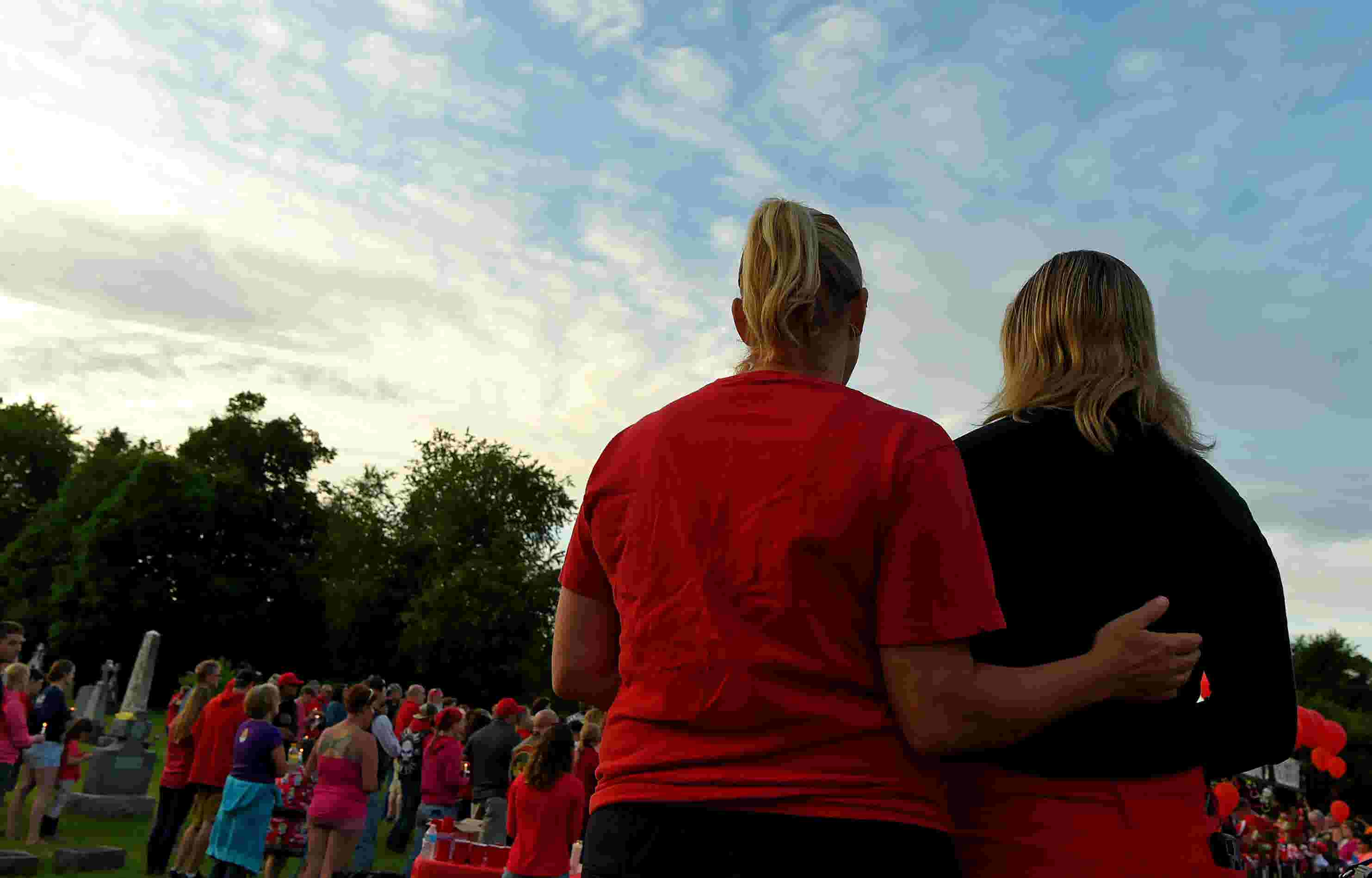 Slain Tioga infant Ruby Franciscovich honored with singing of Amazing Grace  at vigil