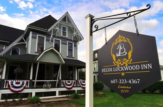 The Belva Lockwood Inn, located at 245 Front Street in Owego.  June 17, 2019.
