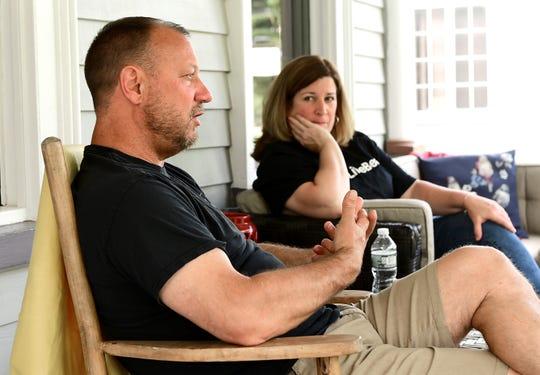 Jim and Julie Lovelass, owners of the Belva Lockwood Inn in Owego.  June 17, 2019.