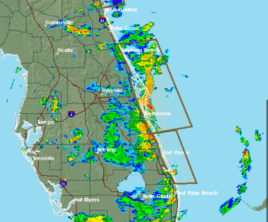 Storms were expected to roll in to Brevard County on Tuesday afternoon.