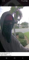 Indian Harbour Beach police released an image of the person they said carried out a robbery late Monday at a Bank of America branch.