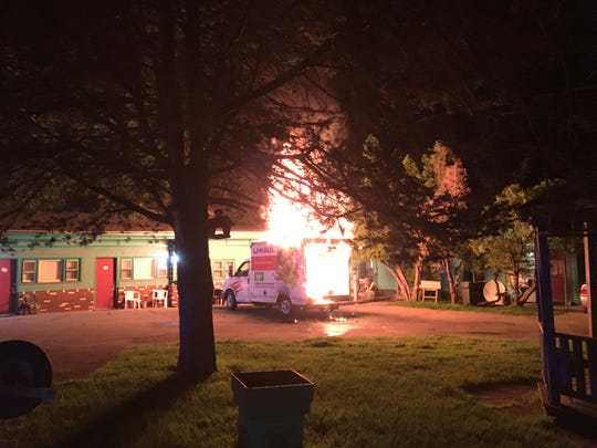 South Burlington police are searching for information about the cause of a fire that engulfed a U-Haul van outside the Swiss Host Motel on Williston Road in the early morning hours of June 18, 2019.