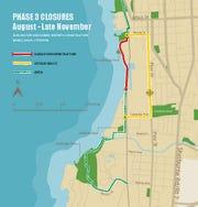 August through November Bike Path closures.