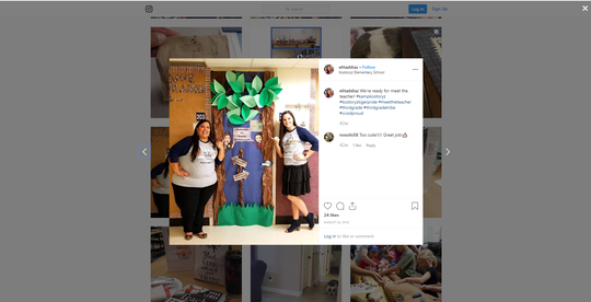 A screenshot of Elita Diaz's Instagram shows the teacher during the beginning of a school year.