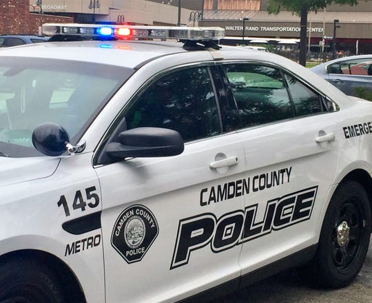 Two men were shot, one fatally, as a Camden County police officer dispersed a crowd at a North Camden park early Sunday.