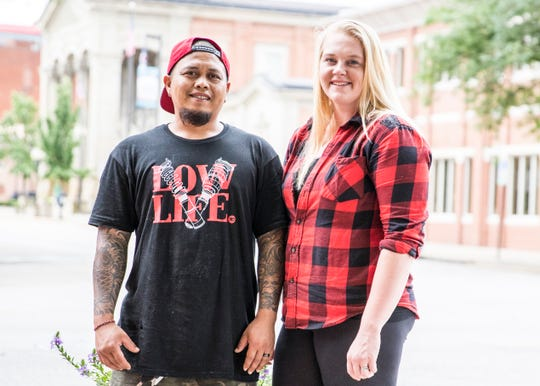 (L-R) Jay and Jamie Jelantik will be moving their popular Hometown Hibachi food indoors and will soon be relocated at the corner of Paint and 2nd in downtown Chillicothe, Ohio.