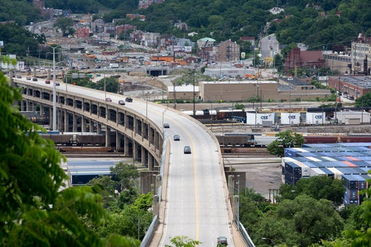 Western Hills Viaduct. Photo shot from Fairview Park Tuesday June 18, 2019.