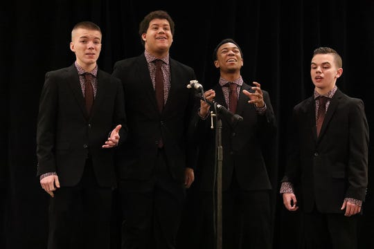 New Jersey's barbershop harmony champions, The Quin-Tones, pictured, and Party of Five, will benefit South Brunswick Food Pantry 7 p.m. June 21 at South Brunswick Senior Center.