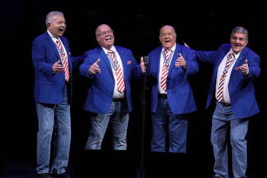 New Jersey's barbershop harmony champions, Party of Five, pictured, and The Quin-Tones, will benefit South Brunswick Food Pantry 7 p.m. June 21 at South Brunswick Senior Center.