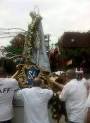 Along with the festival, there is a  traditional feast day pass and processional through the streets of Hoboken.