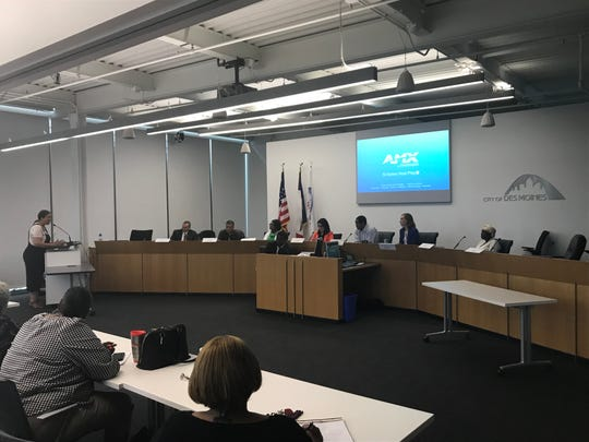 The Des Moines Civil and Human Rights Commission hears residents' concerns about a proposed racial profiling ordinance on Monday, June 17, 2019.