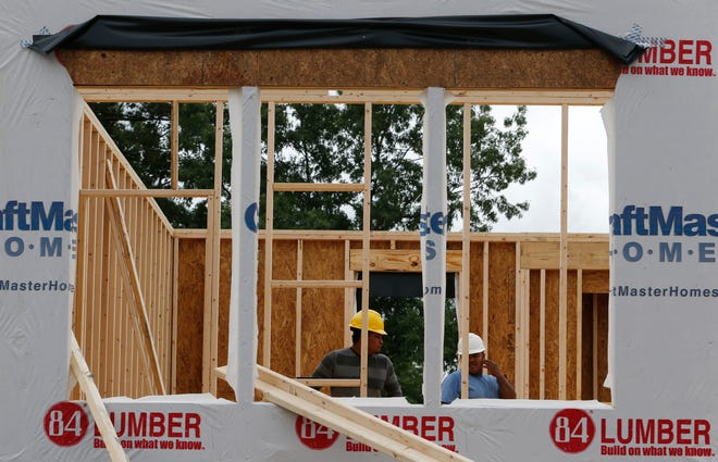 The Commerce Department said Tuesday that construction was started at a seasonally adjusted annual rate of 1.27 million homes and apartments, a decline of 0.9% from April when construction starts had risen a strong 6.8%.