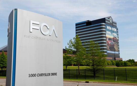 The Fiat Chrysler Automobiles world headquarters in Auburn Hills.