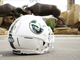A screenshot of the helmet CSU will wear for homecoming on Oct. 5, 2019 to celebrate the 150th year of the school. The picture is a screenshot of the video release sent out by CSU.