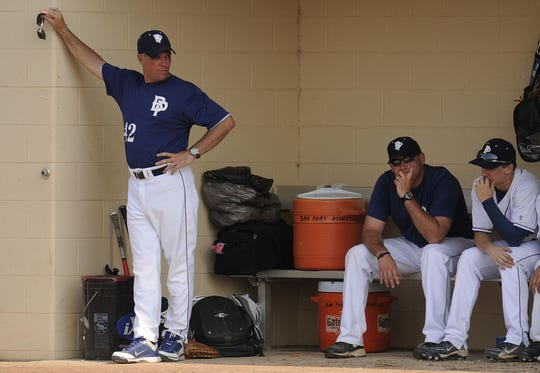 Bay Port baseball coach Mike Simoens (42) has stepped down after 26 seasons.