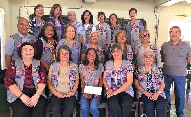 Guam Sunshine Lions Club made a financial donation on May 25 to Ignacio Quenga, 66, of Yigo, to assist with his medical treatment expenses. Nenita Tenorio, seated third from left, accepted the donation on his behalf.